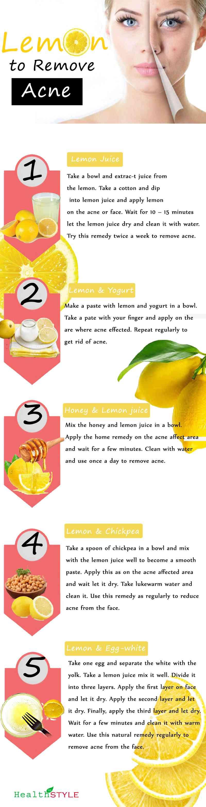 Lemon for Acne-infograph