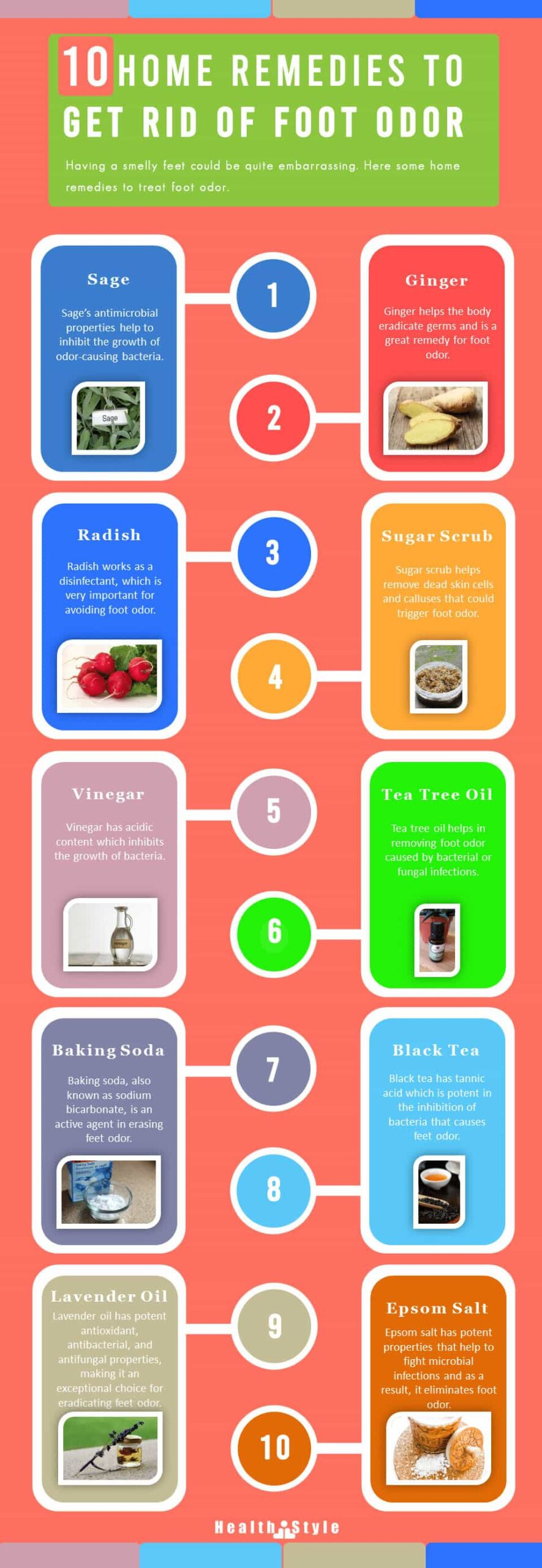 home remedies for smelly feet and Foot odor- Infographic